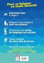 Campagne annuelle de prévention des noyades et risques liés à la baignade
