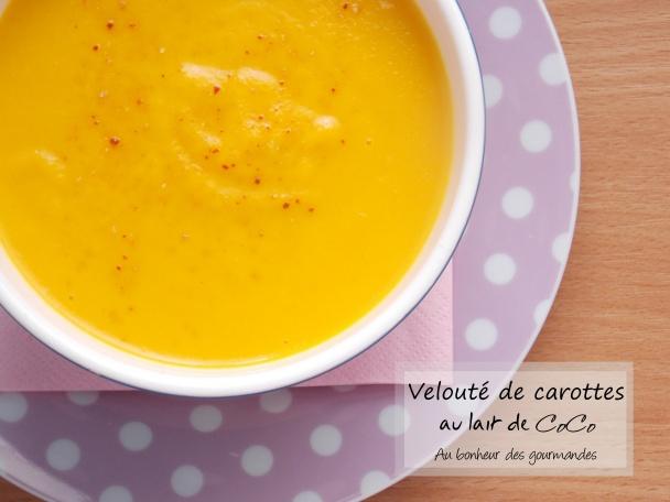 Velouté de carottes à la coco
