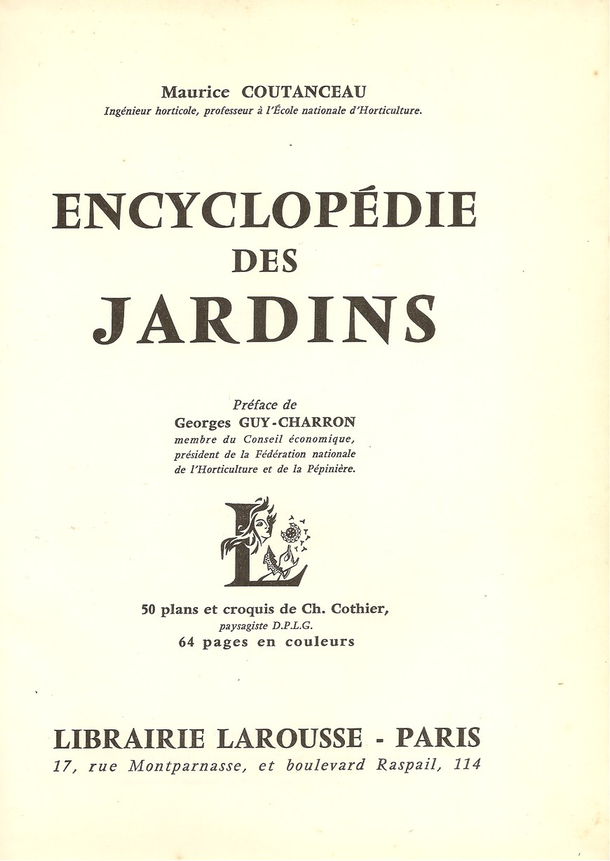 Encyclopédie des jardins