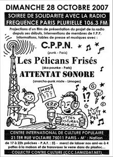 Radio F.P.P. - Soirée de soutien au C.I.C.P. (Paris)