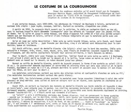 Le costume de la Courginoise