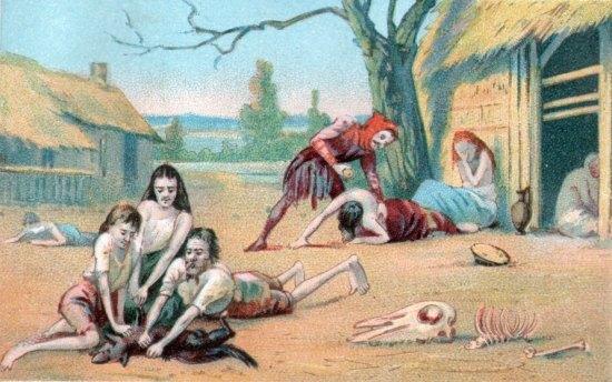 Représentation du fléau de la famine au Moyen Age