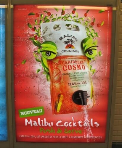 affiche Malibu cosmo style Arcimboldo