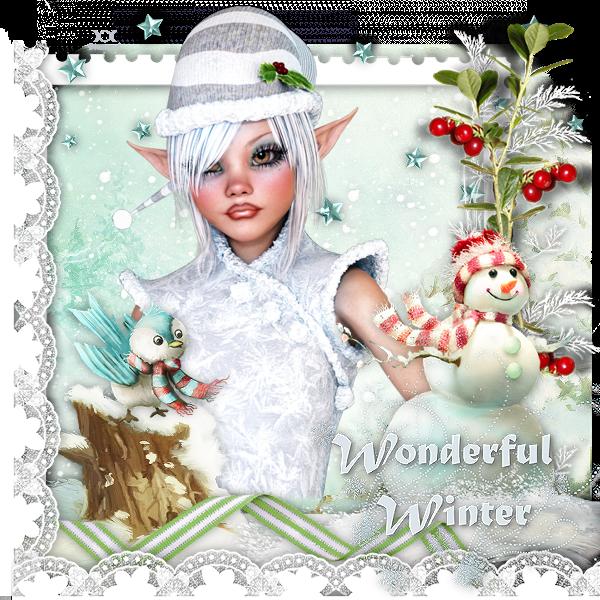 """Tutoriel """"Wonderful Winter"""" de Clairette design traduit chez Delire2scrap"""