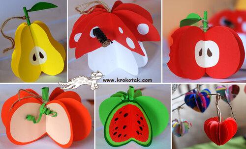 Des fruits en relief