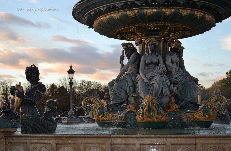 Place de la Concorde : La Fontaine des Mers