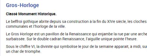 ** EN 2015 -QUELQUES BELLES HORLOGES EN FRANCE**