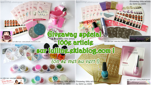 Giveaway du 100e article !