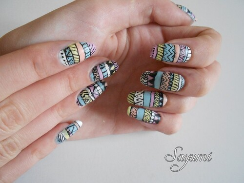 Nail Art Aztèque
