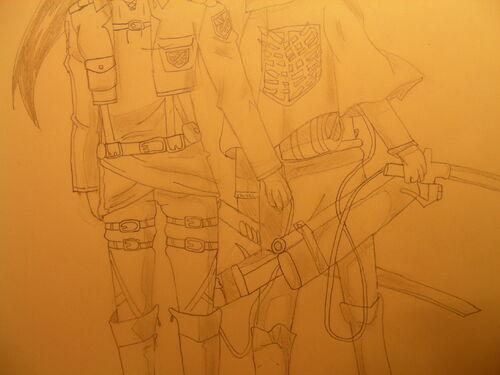 """Moi et une amie, Façon """"Shingeki no kyojin"""""""