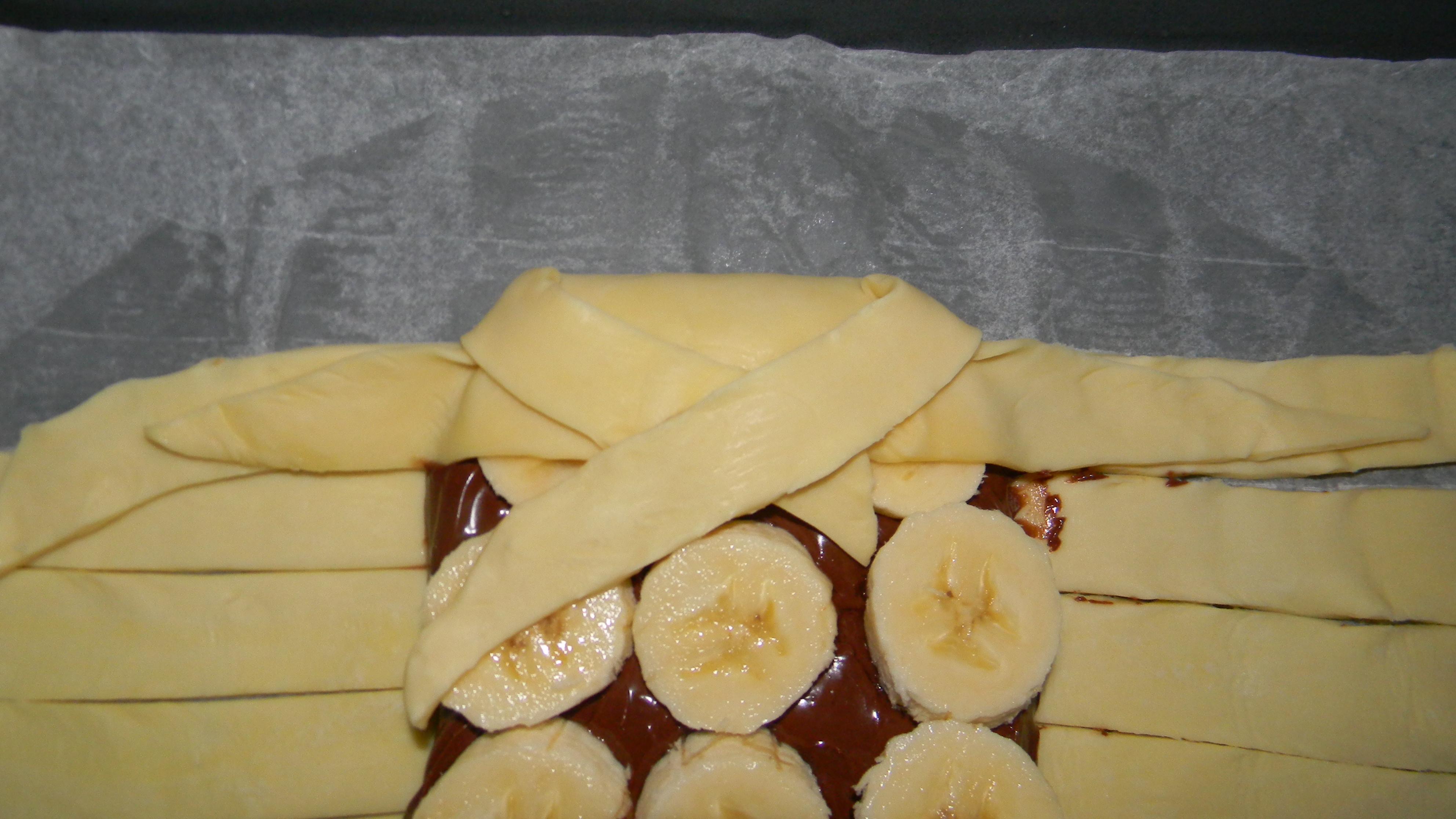 tresse pate feuilletee chocolat banane facile rapide simple a