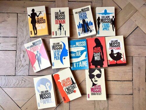 @Pocket_Editions renouvelle les couvertures des romans de @Guillaume_Musso
