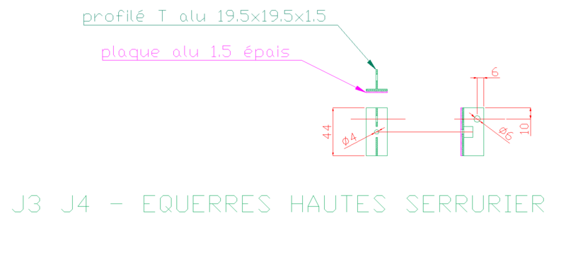 J - EQUERRES HAUTES DU SERRURIER