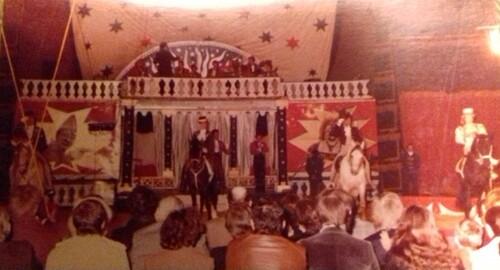 souvenir du spectacle de 1981 du cirque Jean Richard ( archives Christian Meyer)