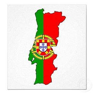 carte de drapeau du portugal normale poster-r2dbb1aa606ff47