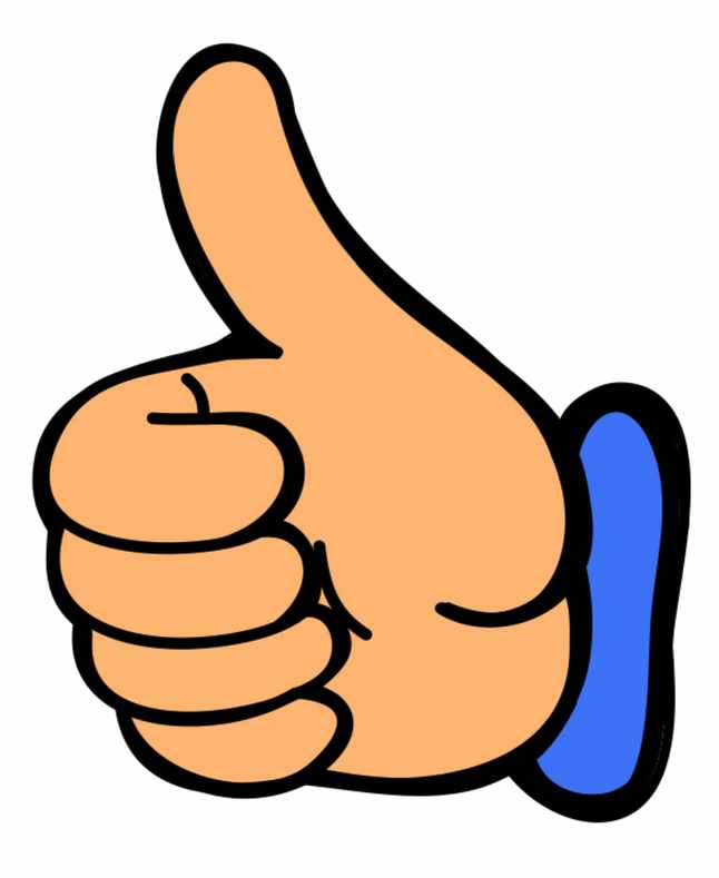 Smile thumbs up clip art ...