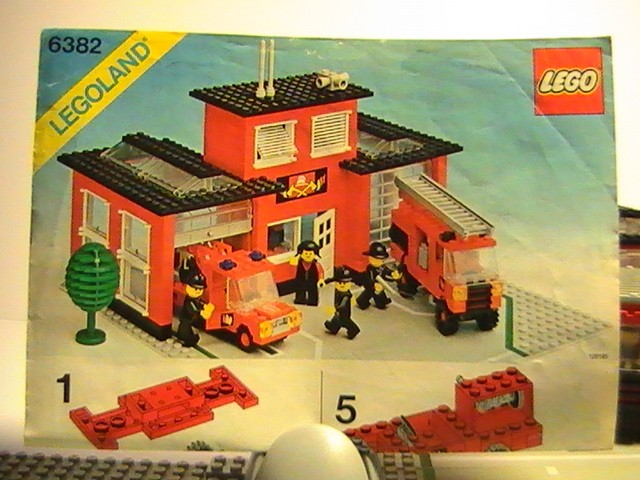 lego n 6382 de 1981 la caserne des pompiers diabolic76. Black Bedroom Furniture Sets. Home Design Ideas