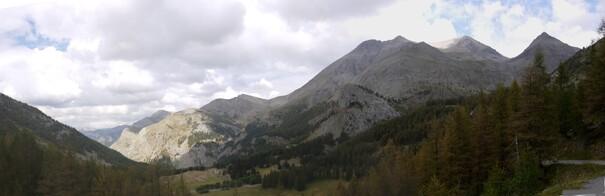 Un panorama durant la dernière montée
