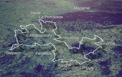 Route du Cassoulet plan