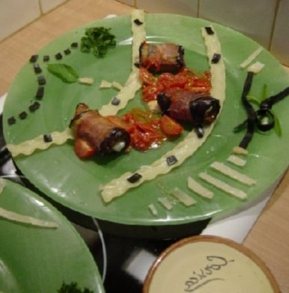 Involtini d'aubergines
