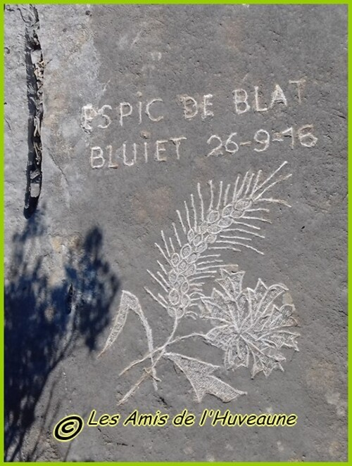 Garlaban, balade aux dalles gravées de Monsieur Louis Douard.