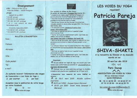 Les Voies du Yoga reçoivent Patricia Pareja