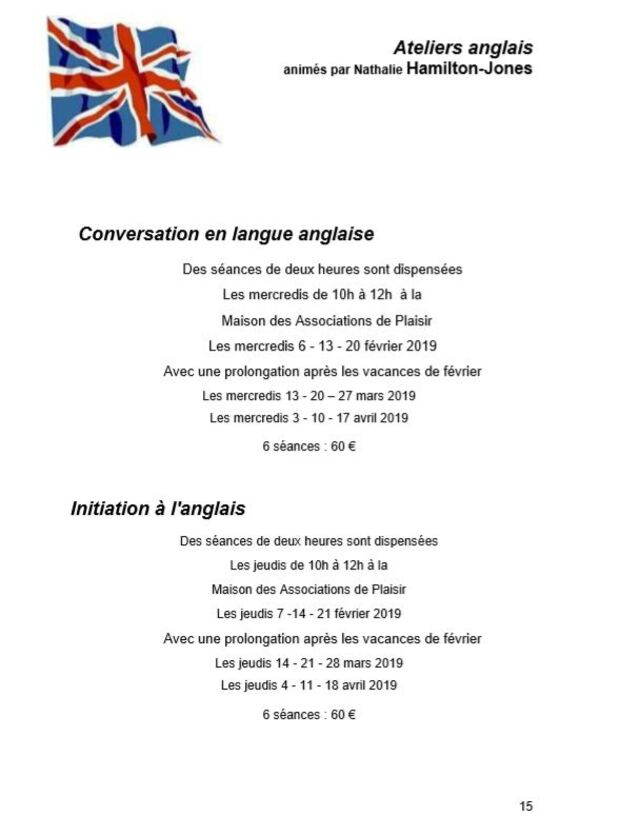 Conversation en langue anglaise
