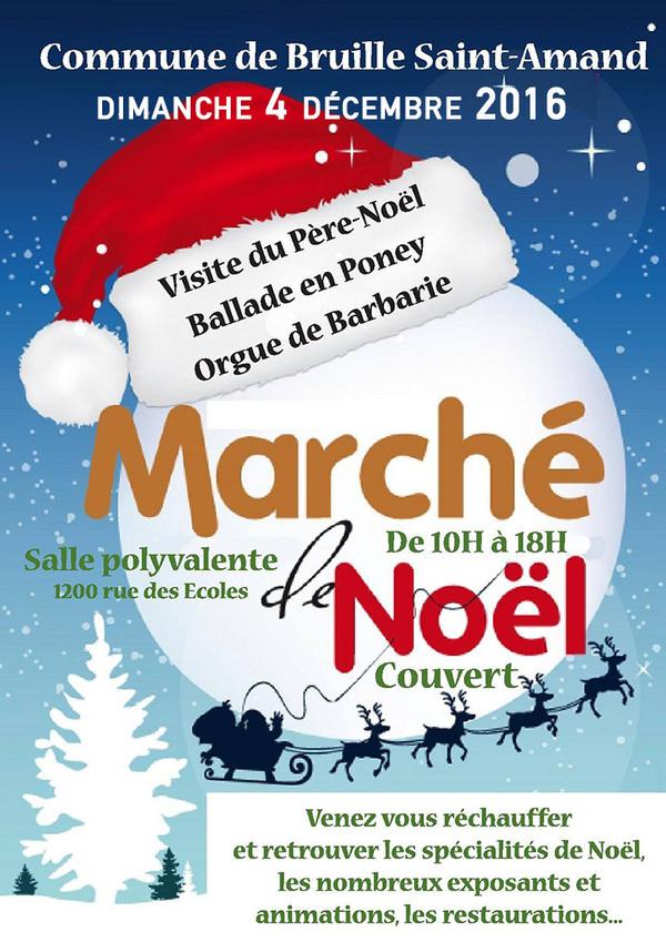 Marché de Noël, à Bruille-Saint-Amand