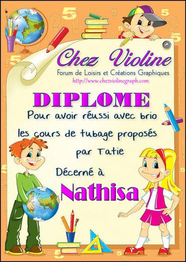 """Mes diplômes de """" Chez Violine """""""