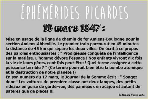 Ephémérides picardes : 15 mars 1847