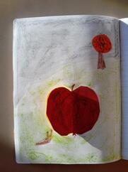 Illustrer un texte sur les pommes