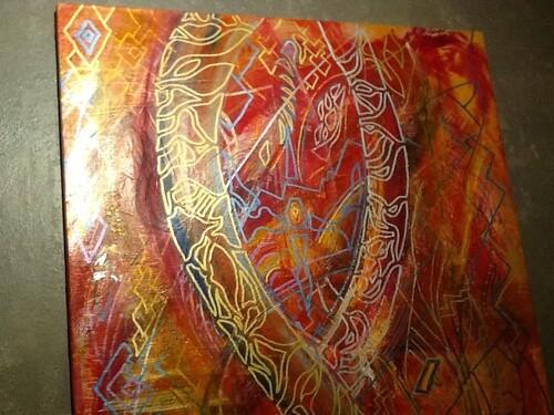 Du feu de Dieu ( Toile acrylique 100x80 )