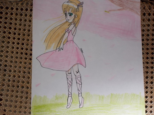 Deux dessins fait chez une copine