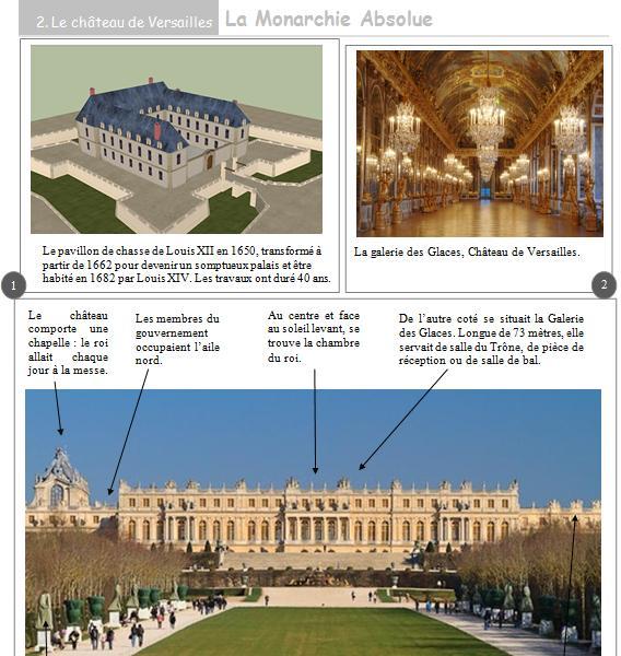 Louis xiv et la monarchie absolue histoire ce2 la classe b - Histoire des arts les jardins de versailles ...