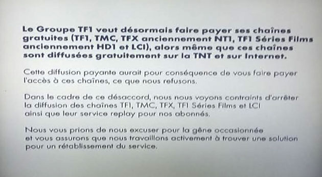 Canal+ et TNT SAT cessent de diffuser les chaînes de TF1