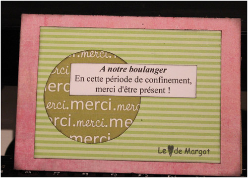 Scrap / Une carte pour mon boulanger