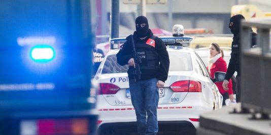 Des forces spéciales de la police belge, à Bruxelles, le 14 avril 2016.