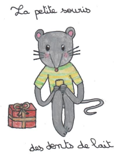 La petite souris des dents de lait un bout de crayon - Dessin petite souris ...