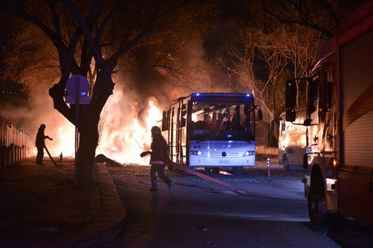 Au moins cinq personnes ont été tuées et dix blessées lors d'une violente explosion survenue, mercredi 17février, dans le centre d'Ankara.
