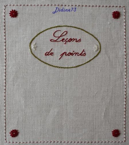SAL mon cahier de broderie - feuillet 13 - le verso de la couverture