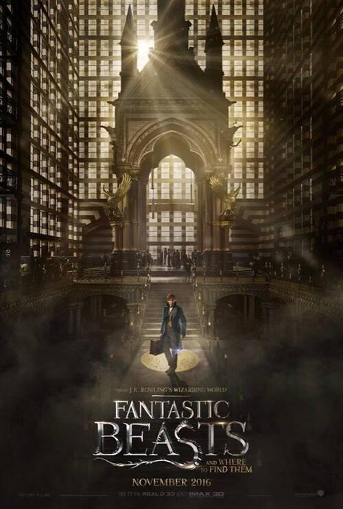 """#HarryPotter #FantasticBeasts """"Les animaux fantastiques"""" , première affiche"""