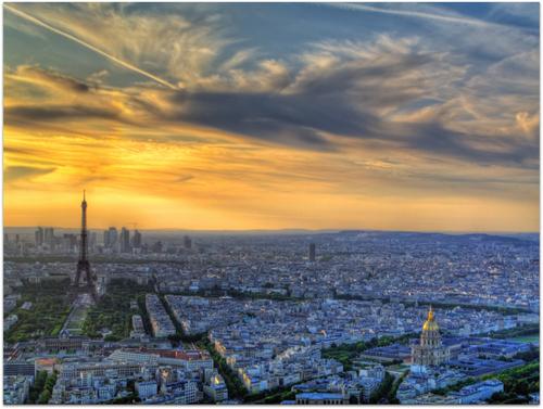 Paris vue du ciel ! à mes enfants et ma petite fille
