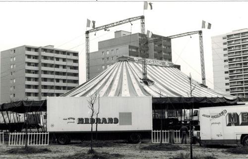 Le cirque MEDRANO- Jean Richard en 1978 à Rilleux ( archives Raymond Marti)