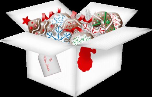Tubes gâteaux Noël en png