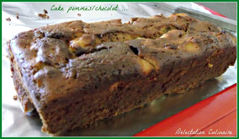 Cake ricotta ; chocolat et pommes ....