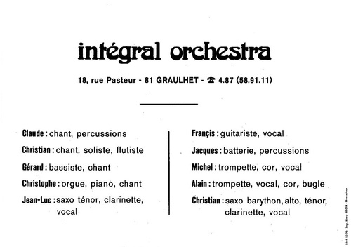 - INTEGRAL ORCHESTRA