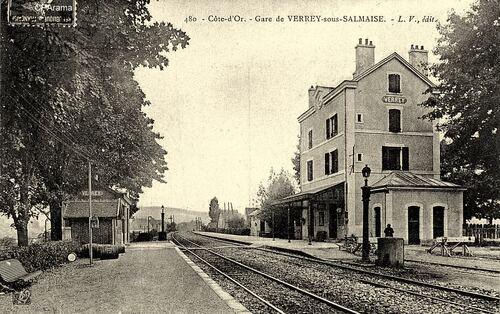 Gare de Verrey au temps de la vapeur!