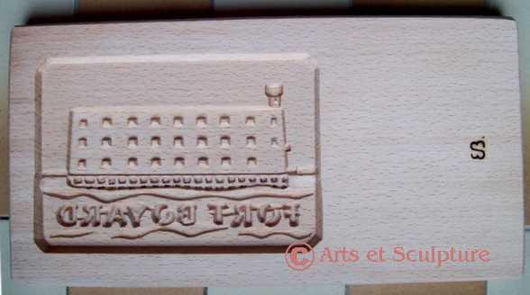 Moule à biscuit en bois Fort Boyard grand modèle - Arts et Sculpture: sculpteur à façon