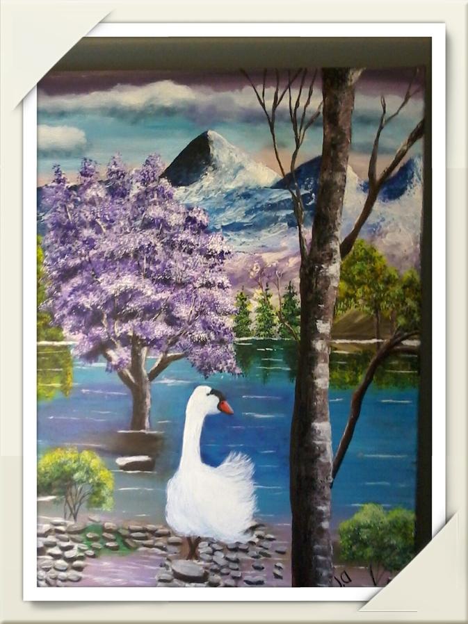 Nouvelle toile La belle oie