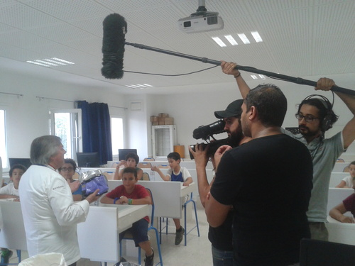 Une chaine tunisienne est venue nous filmer!